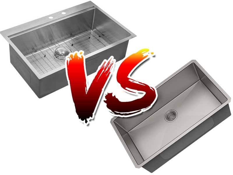Difference Between Overmount Vs Undermount Sink | Advantages